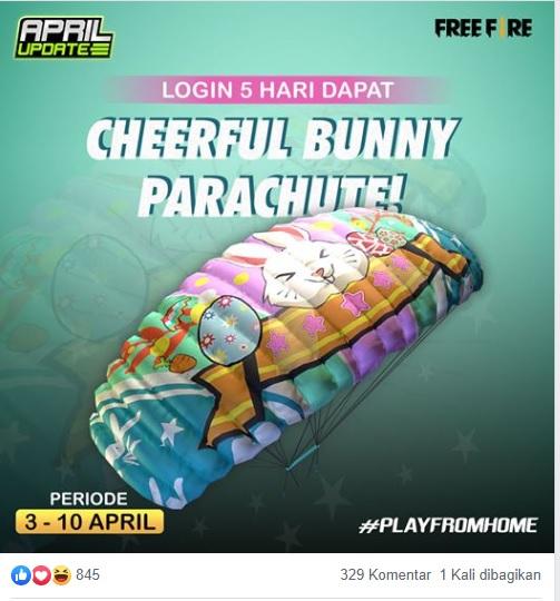 Cheerful Bunny Parachute