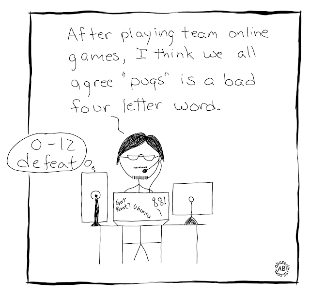 amusedbits, cartoon, gaming, humor, pugs