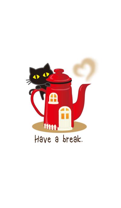 Cafe & black cat 2