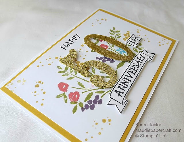 Stampin' Up! Number of Years card
