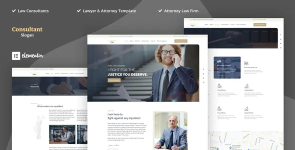 Best Lawyer & Attorney Elementor Template Kits