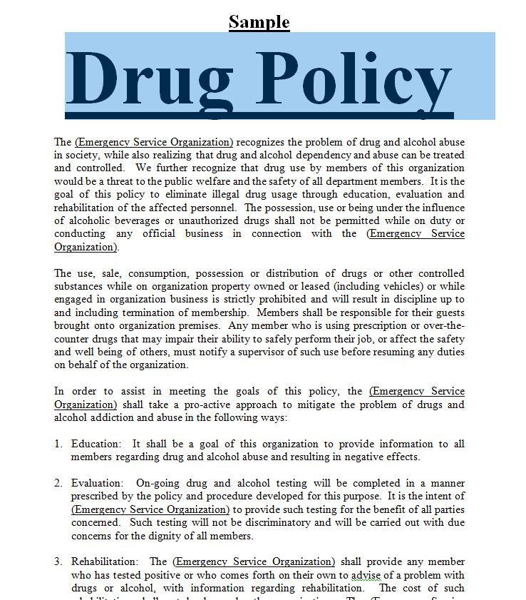 drug free workplace policy template - model drug and alcohol policy free to print in doc