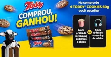 Toddy e Cuponeria lançam promoção onde é possível resgatar 1 mês grátis de Streaming de Filmes, Série ou Música