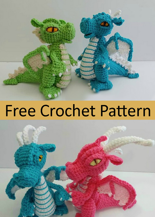 Small Dragon Amigurumi  - Free Pattern