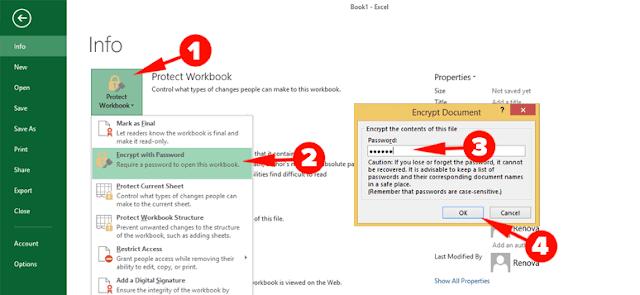 Cara Mengunci File Excel