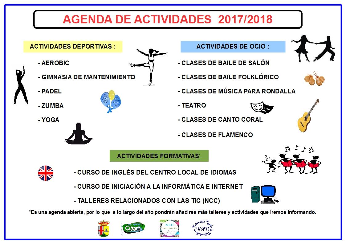 UNIVERSIDAD POPULAR DE VALDECABALLEROS: AGENDA DE ACTIVIDADES 2017/2018