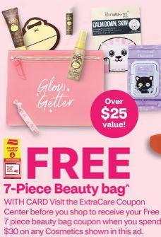 beauty bag free at cvs