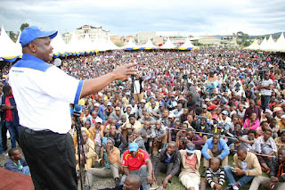 Governor Isaac Ruto in Bomet campaigning for CCM. PHOTO | Courtesy