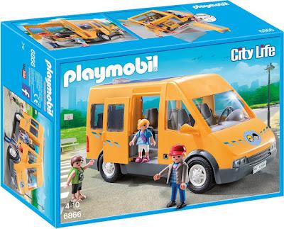 TOYS : JUGUETES - PLAYMOBIL City Life  6866 Autobús Escolar  Producto Oficial 2016 | Piezas: 51 | Edad: 4-10 años  Comprar en Amazon España