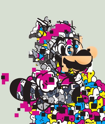 "The Blot Says...  ""Super Jerkio"" Super Mario Print by Jerkface 0c4274d3ae2f"