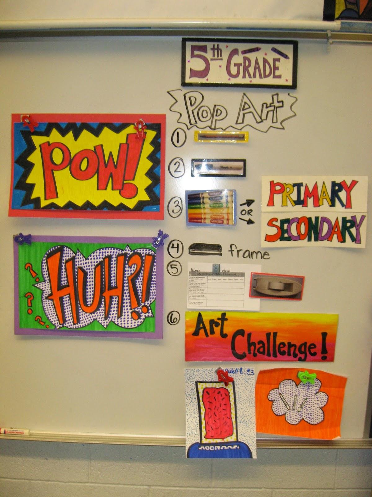 Jamestown Elementary Art Blog 5th Grade Roy Lichtenstein