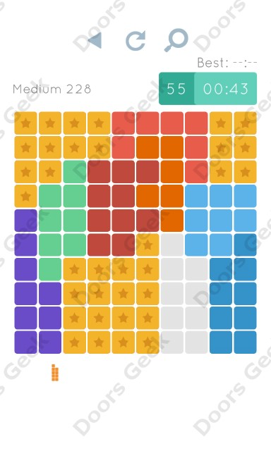 Cheats, Walkthrough for Blocks and Shapes Medium Level 228