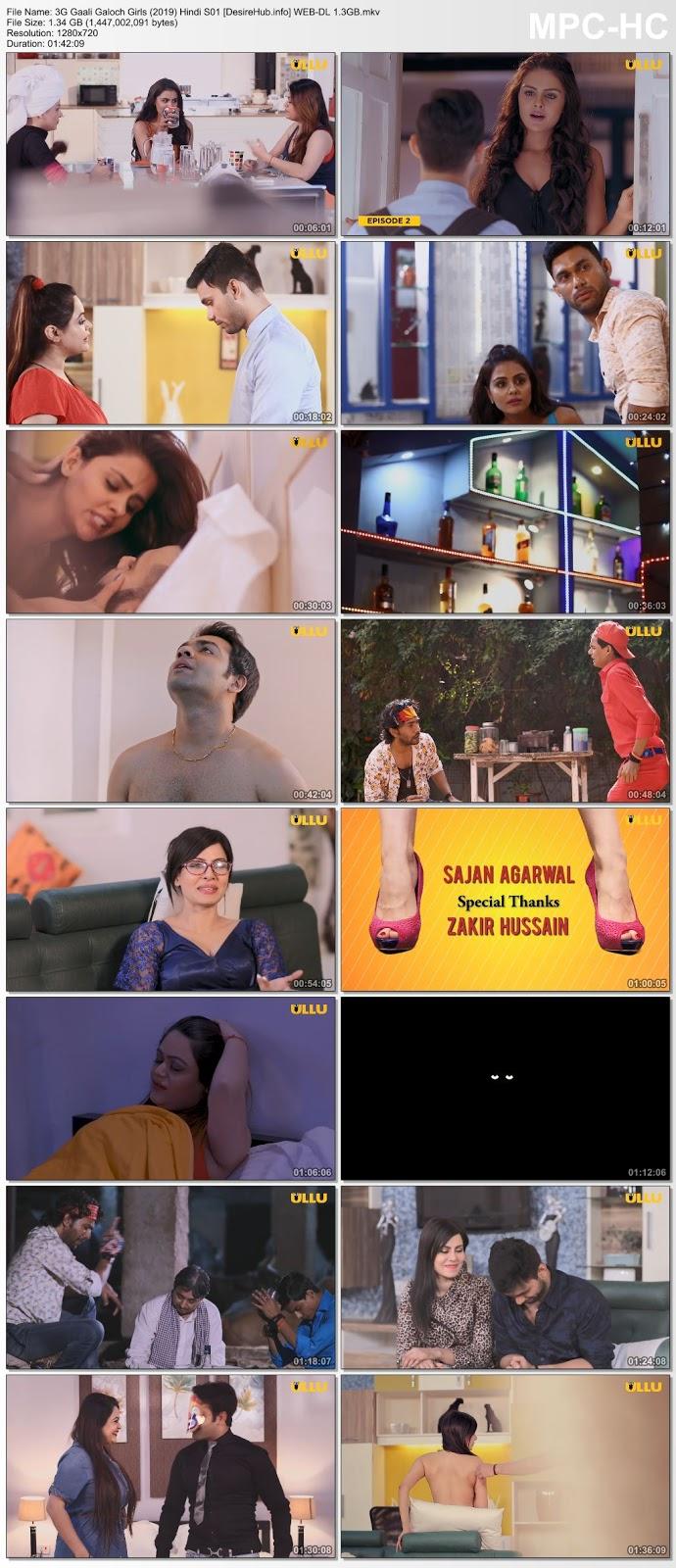 3G Gaali Galoch Girls (2019) Complete S01 Hindi 480p WEB-DL 300MB Desirehub