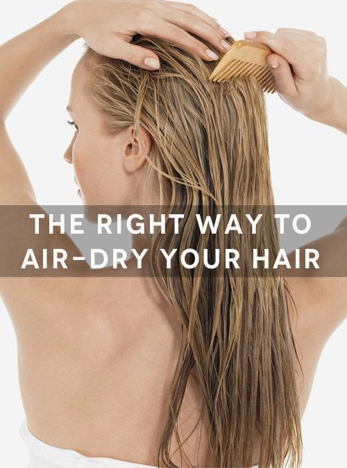 The right way to air dry your hair