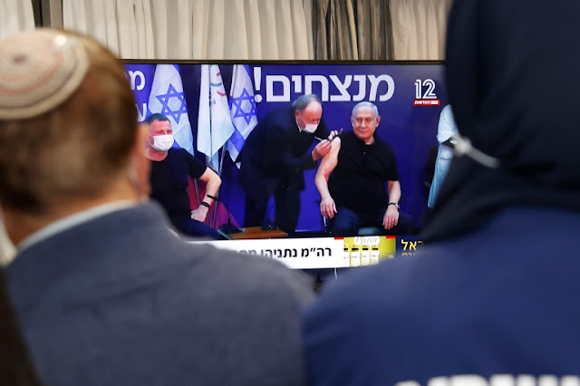 Disiarkan di TV, PM Israel Disuntik Vaksin Corona Pfizer BioNTech
