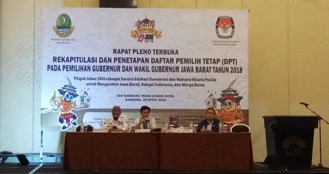 DPT Pilgub Jabar Mencapai 31,73 Juta Pemilih
