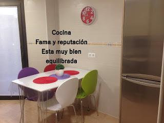"""Una parte de la cocina en el área """"Fama y reputación"""""""