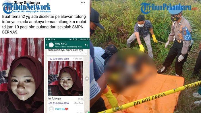 Pelaku Pembunuhan Intan Siswi SMP di Pelalawan Riau Masih Usia 17 Tahun, Akui Perbuatannya