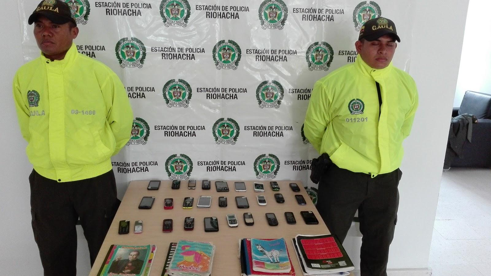 En allanamiento a la cárcel de Riohacha se decomisaron 35 celulares
