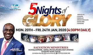 Salvation Ministries 5 Nights of Glory 2020: Everything You Need To Know
