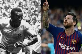 Disputa:El club brasileño Santos, donde el legendario futbolista Pelé , no está de acuerdo con el nuevo récord de Lionel Messi.