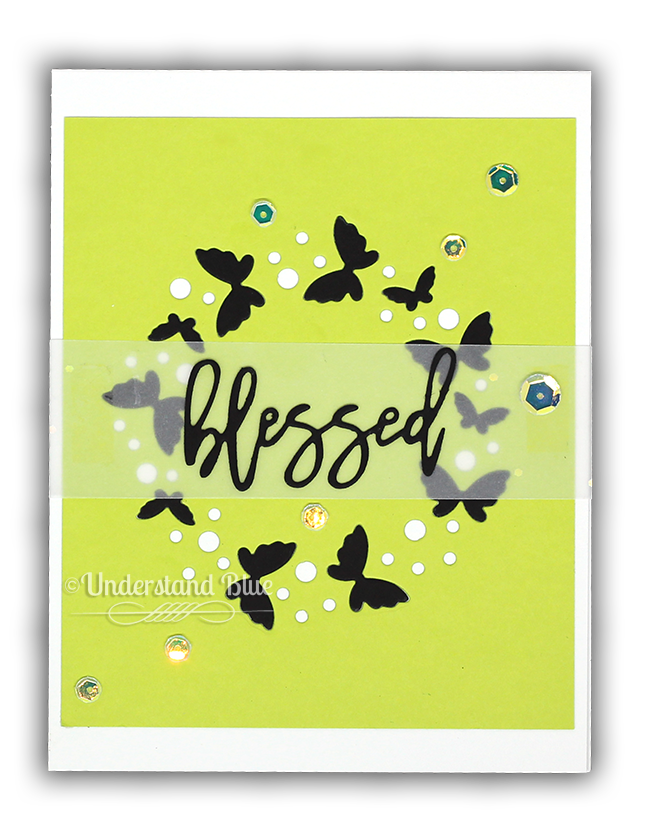 Flickering Butterfly Circle by Simon says Stamp
