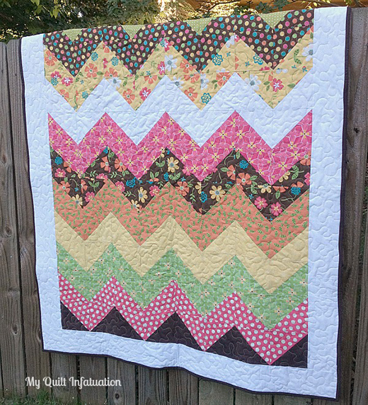 Easy Peasy Chevron Quilt designed by Kelly Young of My Quilt Infatuation