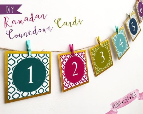 Dekorasi Ramadhan Count Down Card