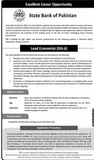 State Bank of Pakistan SBP Jobs 2021 Application Form Download