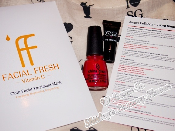 august bellabox facial fresh mask, china glaze polish