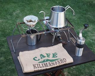 キャンプで使える珈琲考具のツードリップポット 直火とIHに対応