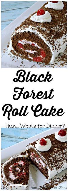 Black Forest Roll Cake- Celebrating 7 yrs of Blogging!!!