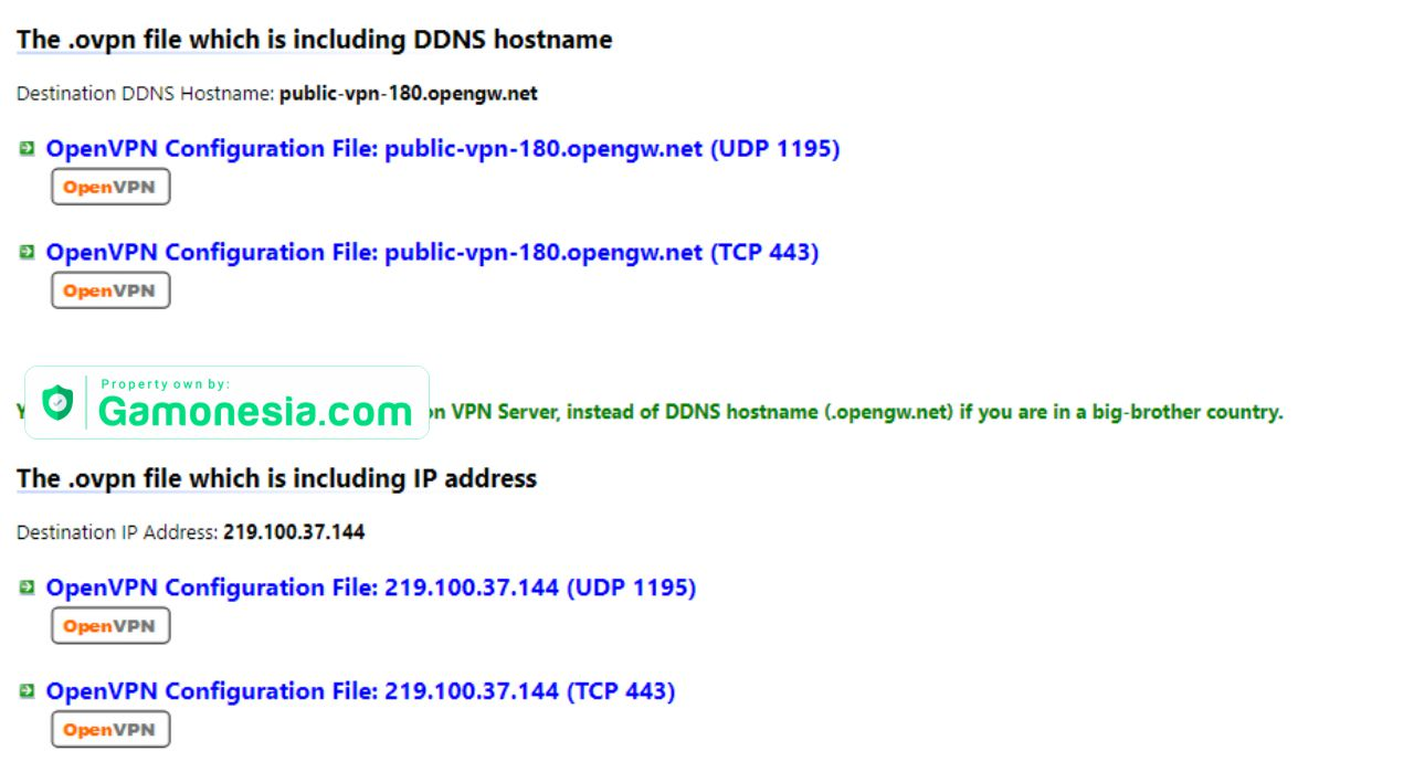 download config openvpn