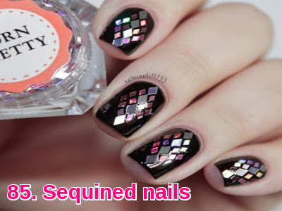 Sequined nails