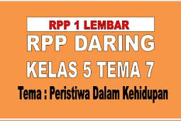 RPP DARING 1 LEMBAR KELAS 5 TEMA 7 KURIKULUM 2013