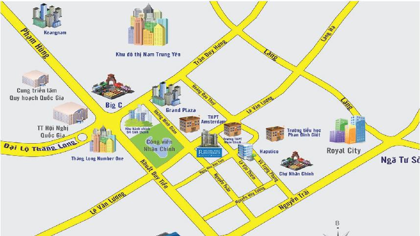 Vị trí chung cư 35 Lê Văn Thiêm - Thanh Xuân - Hà Nội