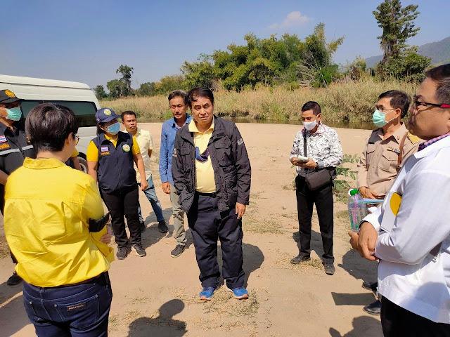 นายก อบจ.ยกทีมเข้าแม่วงก์ ดูพื้นที่โครงการก่อสร้างประตูน้ำ ต.แม่เล่ย์  เตรียมแผนแม่บททำแก้มลิงรองรับน้ำ แก้ภัยท่วม-แล้ง