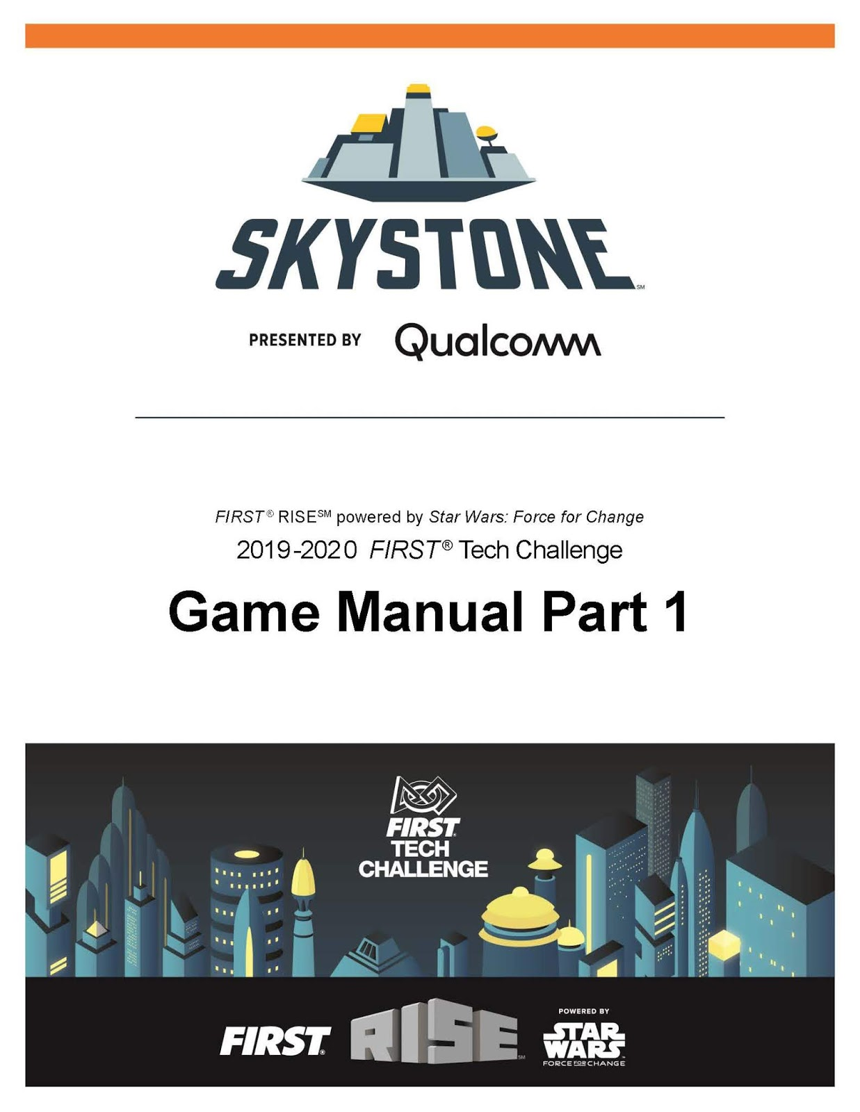 Game Manual Part 1 Release | FIRST Tech Challenge