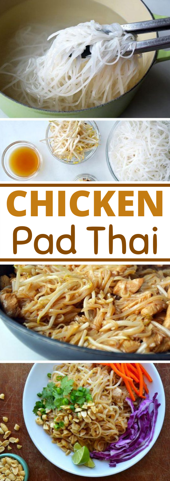 Easy Pad Thai with Chicken #dinner #noodles #thai #recipes #easy