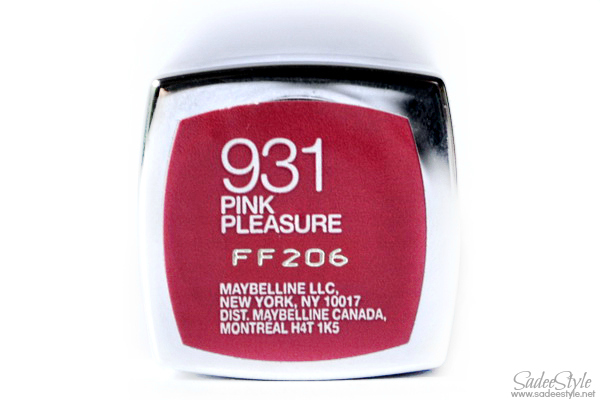 Maybelline ColorSensational Pink pleasure