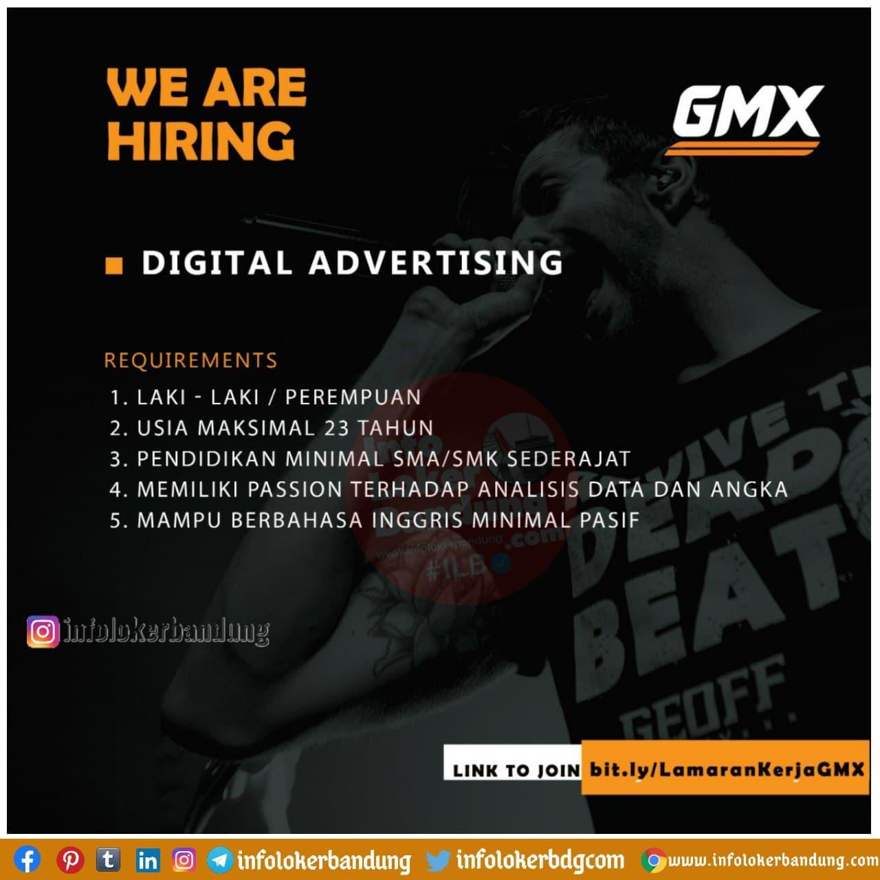 Lowongan Kerja Digital Advertising Gmx Bandung Januari 2021