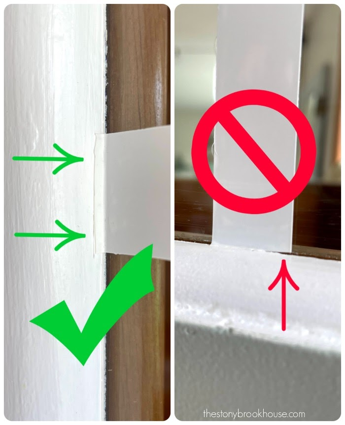 Tip # 3 Leave tape attached to side of window