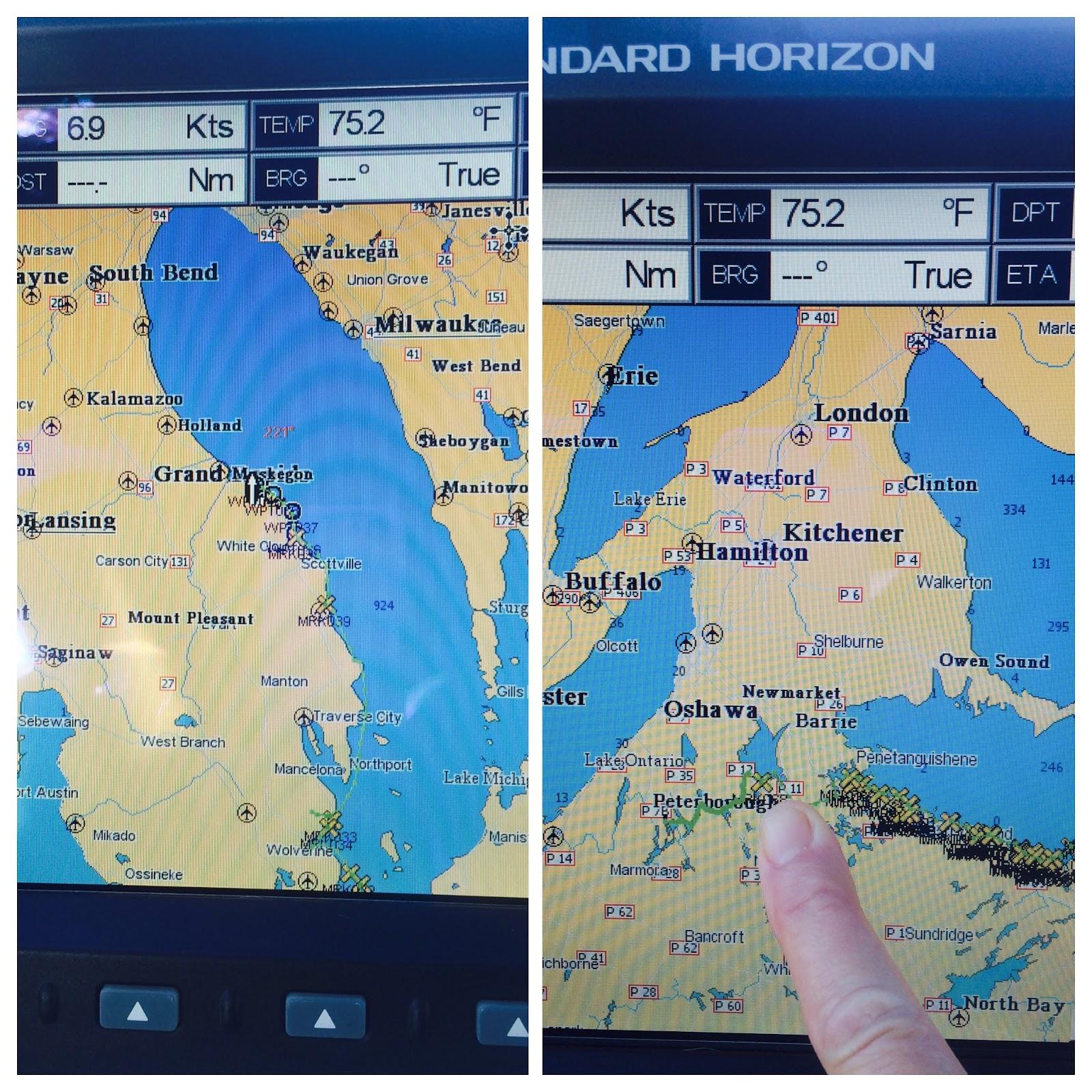 Portage Lake Michigan Map.One Bay At A Time Portage Lake Anchorage To South Haven Lake Michigan