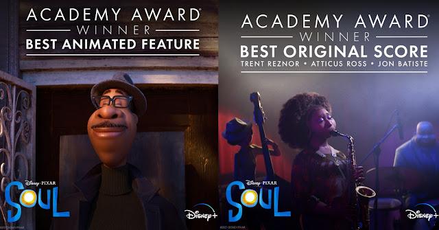 恭喜 迪士尼 與 彼思《靈魂奇遇記》(Disney and Pixar's Soul)榮獲第93屆 奧斯卡金像獎  兩項大獎