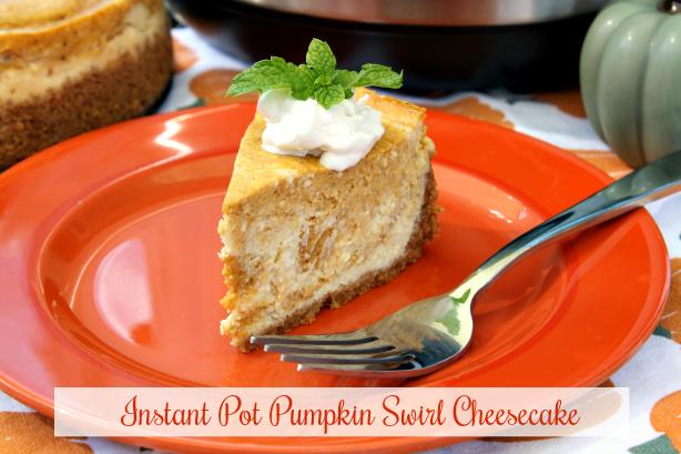 Instant Pot Pumpkin Swirl Cheesecake