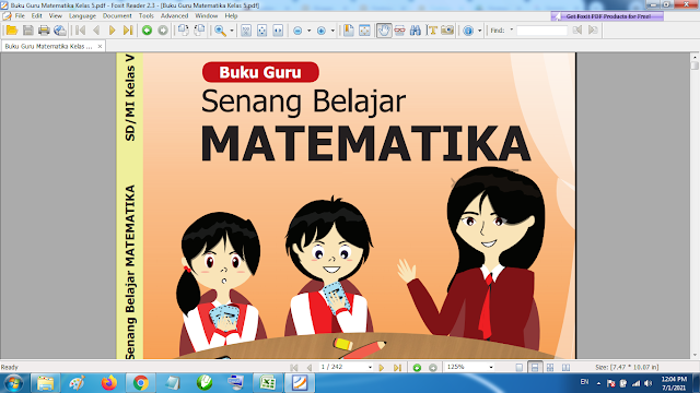 Download Buku Guru Matematika Kelas 5 SD MI Kurikulum 2013 Revisi Terbaru
