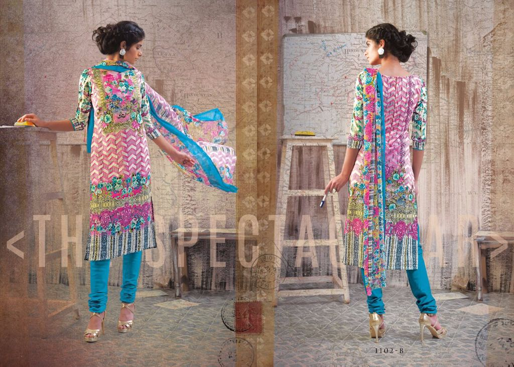 Mishri collection iris printed salwar kameez catalog