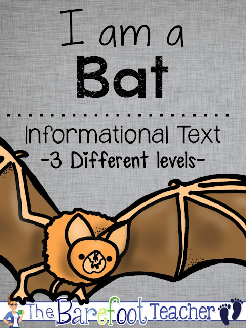 With Halloween right around the corner, now is a perfect time for your Preschool, Kindergarten, or First grade kids to be learning about nocturnal animals! If you're looking for fall activities for kids, these Bats, Owls, & Spiders differentiated readers are a perfect additional to the other activities, crafts, and ideas you have planned for your class this fall. Help your students develop confidence in their reading abilities while learning about bats at the same time. In addition, the last page of each reader incorporates writing practice as students recall facts that they learned in the reader.