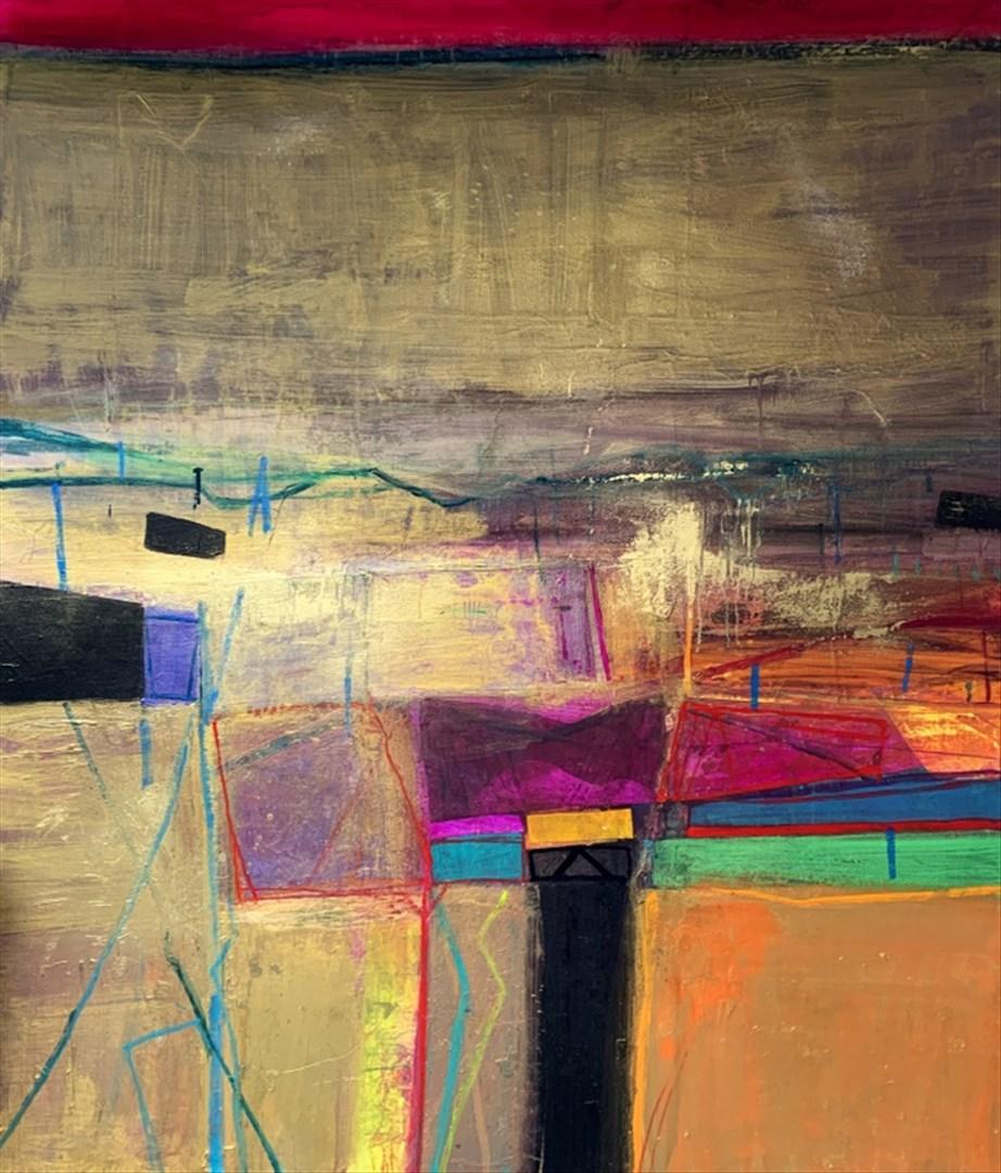 Barbara Rae RA - Kilpallet Rig - Winter (mixed media on canvas) - Royal Academy Summer Exhibition 2021 - London lifestyle & culture blog