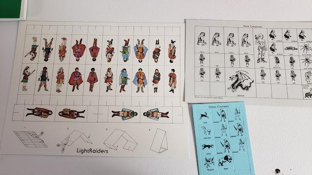 The DragonRaid RPG Box contents 4, counters